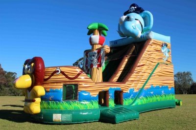 Animal Pirate Ship Jumping Castle