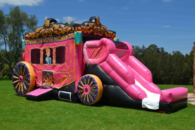 Disney Princess Carriage Jumping Castle